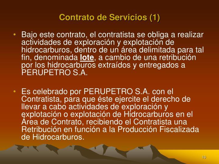 Contrato de Servicios (1)