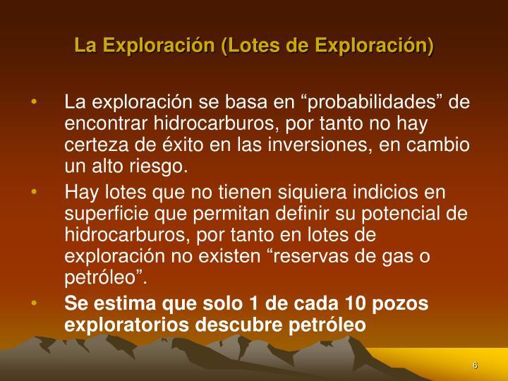 La Exploración (Lotes de Exploración)