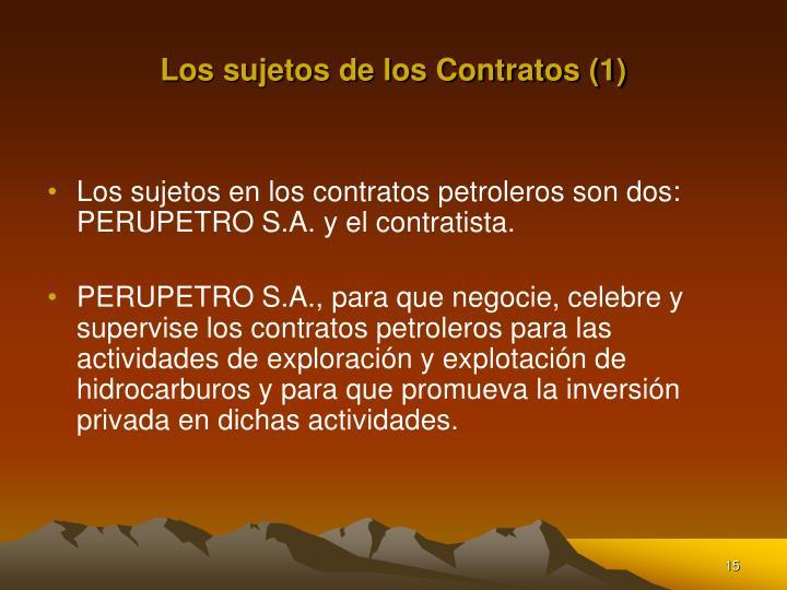 Los sujetos de los Contratos (1)