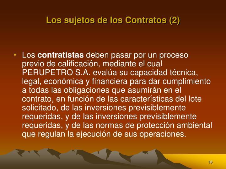 Los sujetos de los Contratos (2)