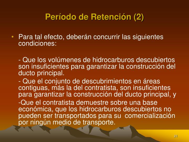 Período de Retención (2)