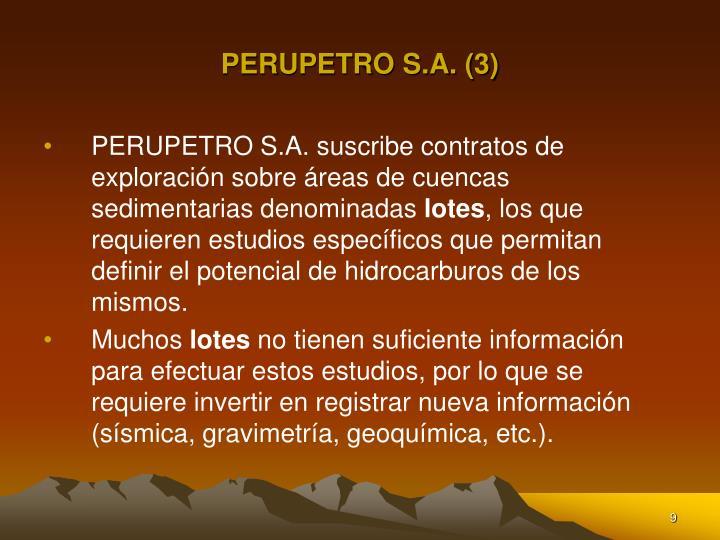 PERUPETRO S.A. (3)