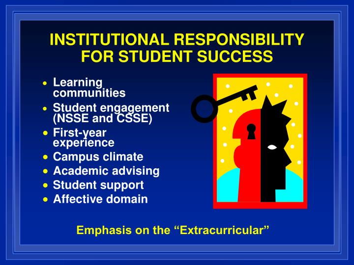 Institutional responsibility for student success