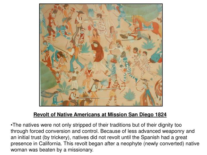 Revolt of Native Americans at Mission San Diego 1824