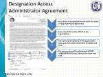 designation access administrator agreement