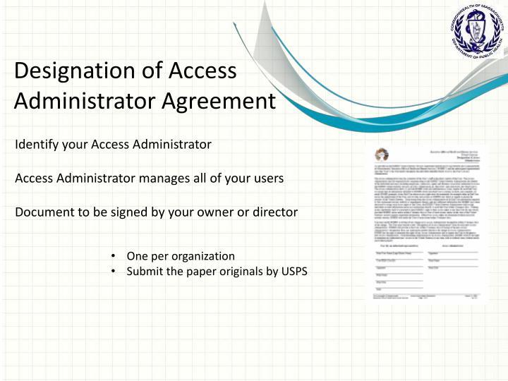 Designation of Access