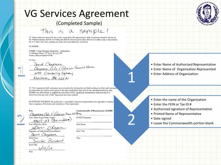 VG Services Agreement
