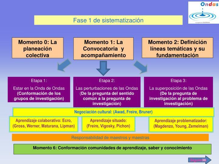 Fase 1 de sistematización