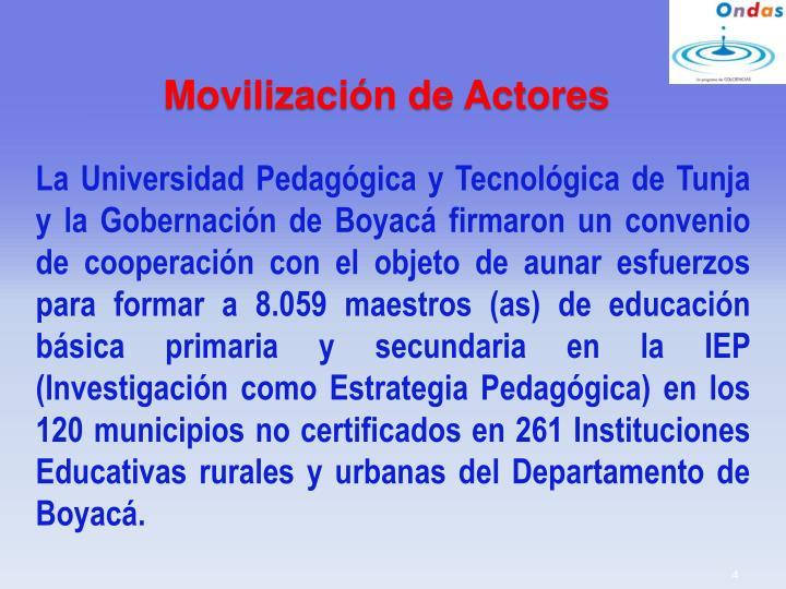 Movilización de Actores