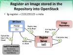 register an image stored in the repository into openstack