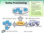 teefaa provisioning