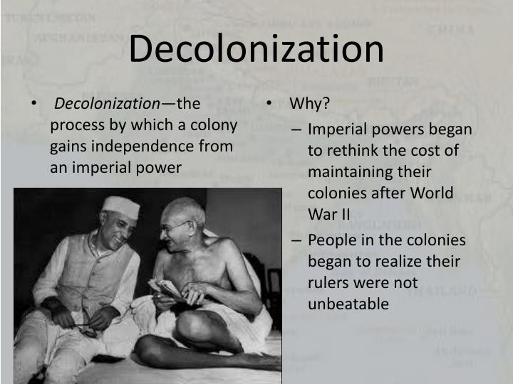 Decolonization essay topics