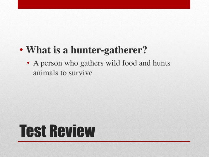 What is a hunter-gatherer?