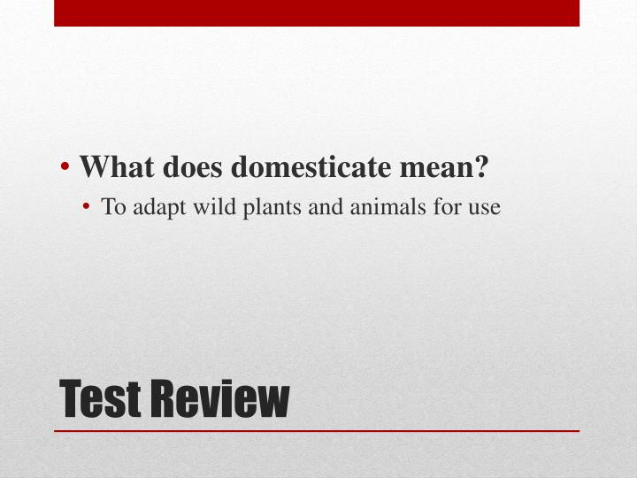 What does domesticate mean?