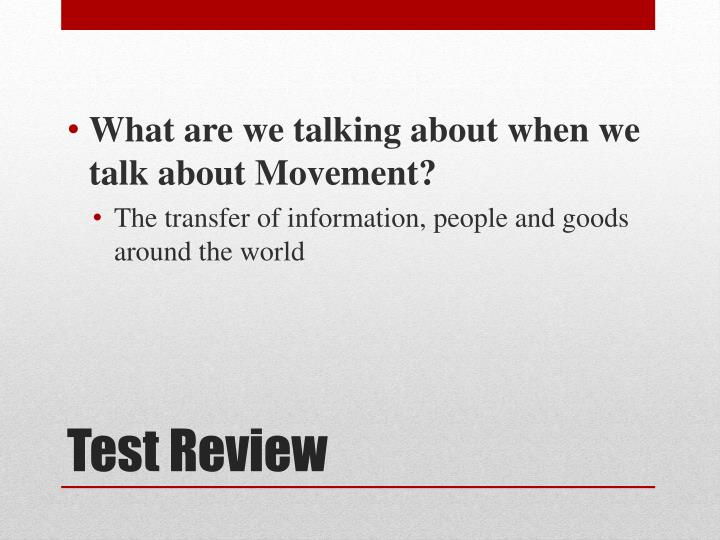 What are we talking about when we talk about Movement?