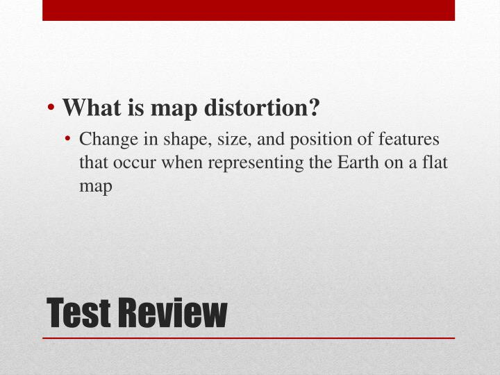 What is map distortion?