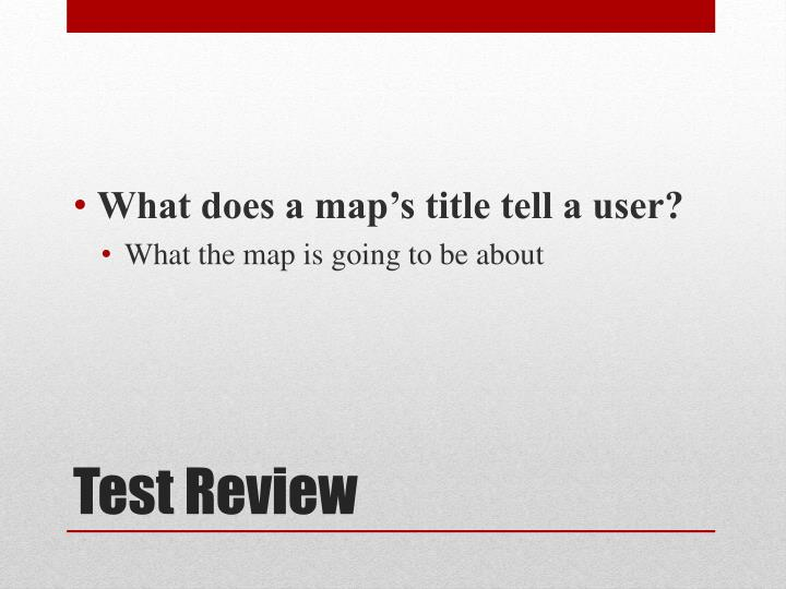 What does a map's title tell a user?