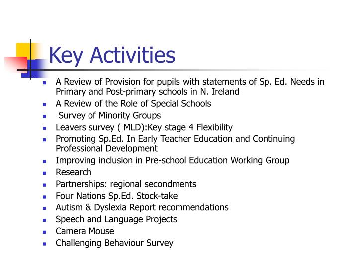 A Review of Provision for pupils