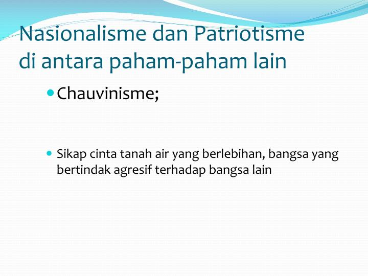 Nasionalisme dan Patriotisme