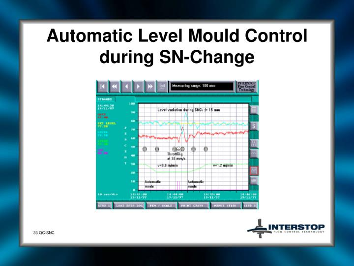 Automatic Level Mould Control during SN-Change