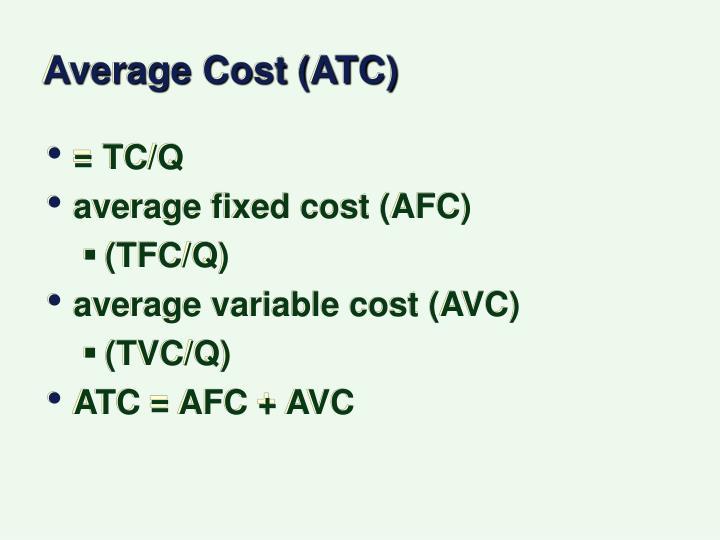 Average Cost (ATC)