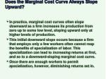 does the marginal cost curve always slope upward