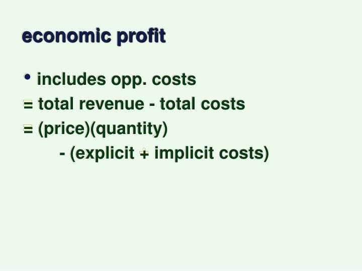 economic profit