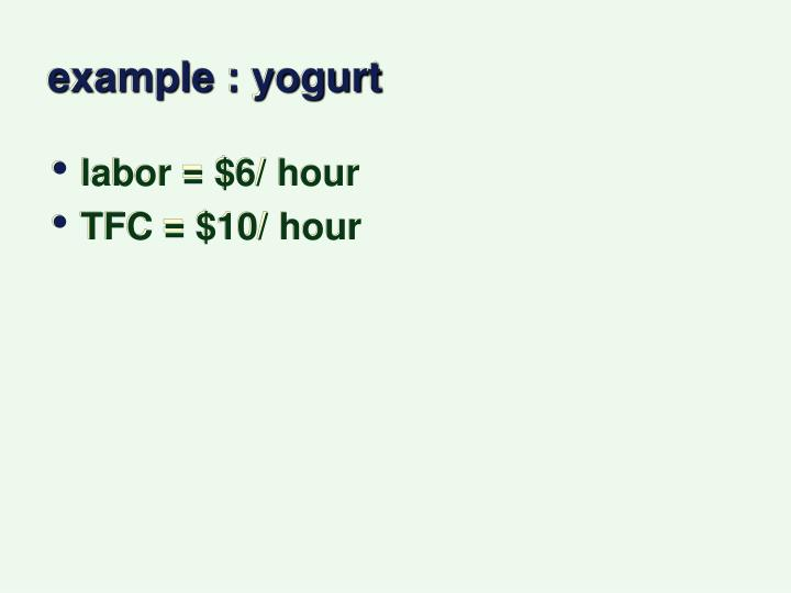 example : yogurt