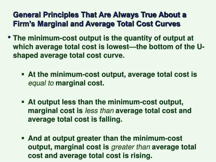 General Principles That Are Always True About a Firm's Marginal and Average Total Cost Curves