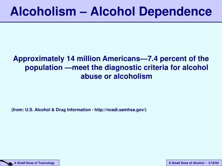 Alcoholism – Alcohol Dependence