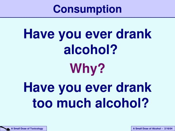 Have you ever drank alcohol?