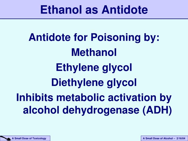 Antidote for Poisoning by: