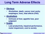 long term adverse effects