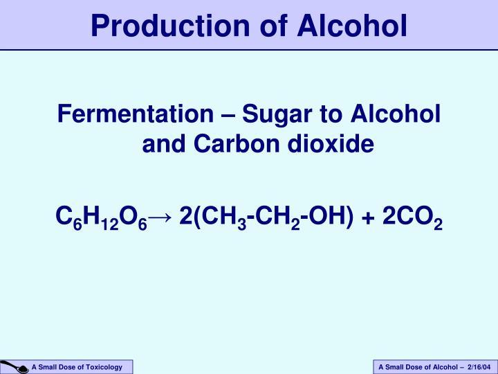 Fermentation – Sugar to Alcohol and Carbon dioxide