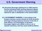 u s government warning