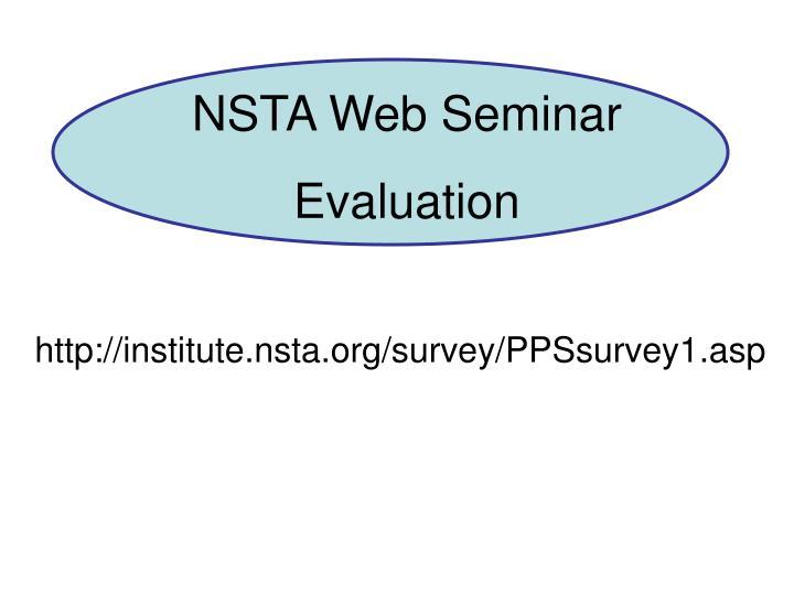 NSTA Web Seminar