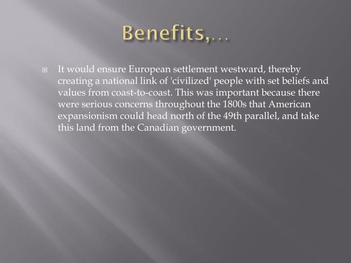 Benefits,…