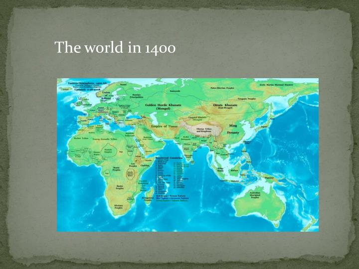The world in 1400