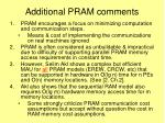 additional pram comments