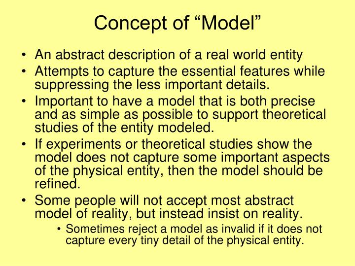 """Concept of """"Model"""""""