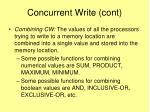 concurrent write cont