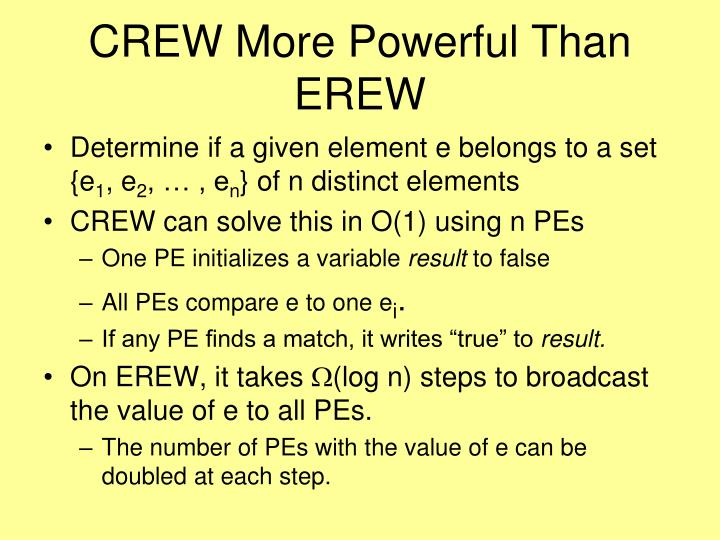CREW More Powerful Than EREW