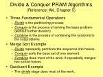 divide conquer pram algorithms reference akl chapter 5