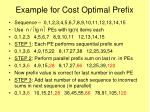 example for cost optimal prefix