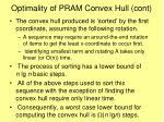 optimality of pram convex hull cont