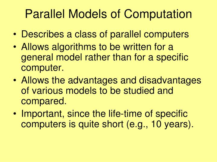 Parallel Models of Computation