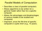 parallel models of computation
