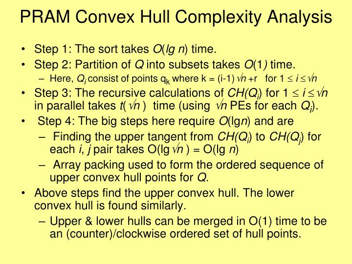 PRAM Convex Hull Complexity Analysis