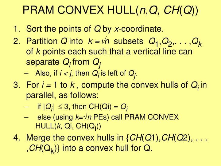 PRAM CONVEX HULL(