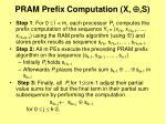 pram prefix computation x s